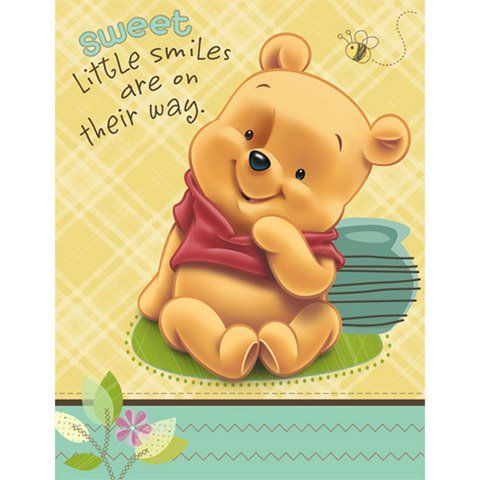 in packages of 8 these adorable winnie the pooh baby shower rh pinterest com au Classic Pooh Clip Art Classic Pooh Clip Art