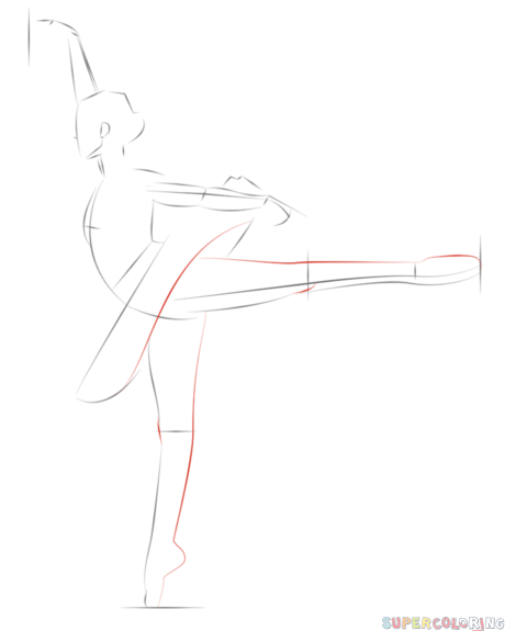 How to draw a ballerina step by step. Drawing tutorials for kids and beginners.