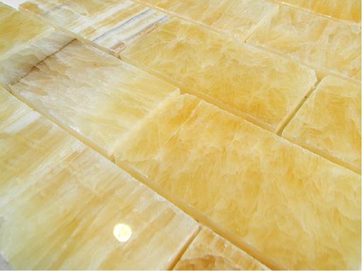 Onyx Stone Flooring : Honey onyx polish mm brick pattern glass tile
