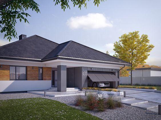 Decyma 9 projekt domu - DOMY w Stylu | Facade house, House ... on Hhh Outdoor Living id=84830