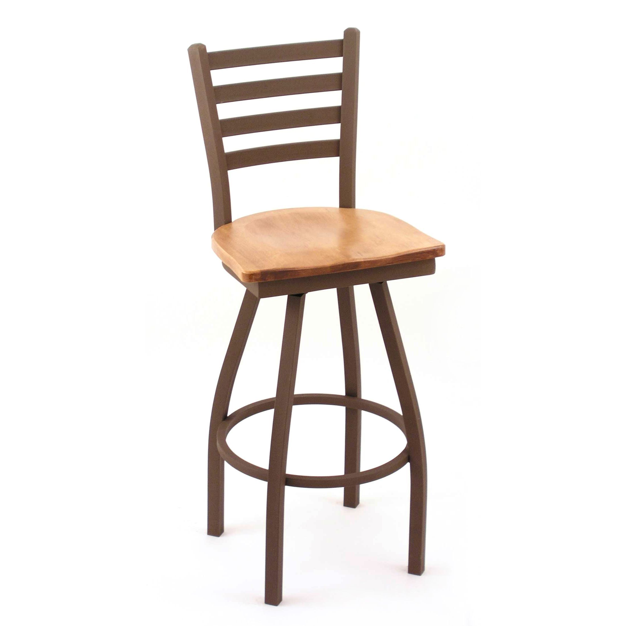 Cambridge 36 Inch Maple Horizontal Slat Back Bar Stool Extra Tall