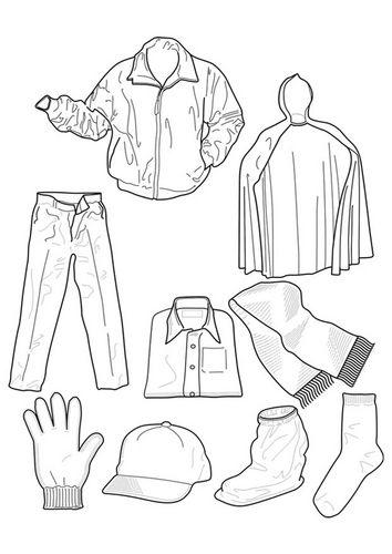 Malvorlage Kleidung | Schule | Pinterest