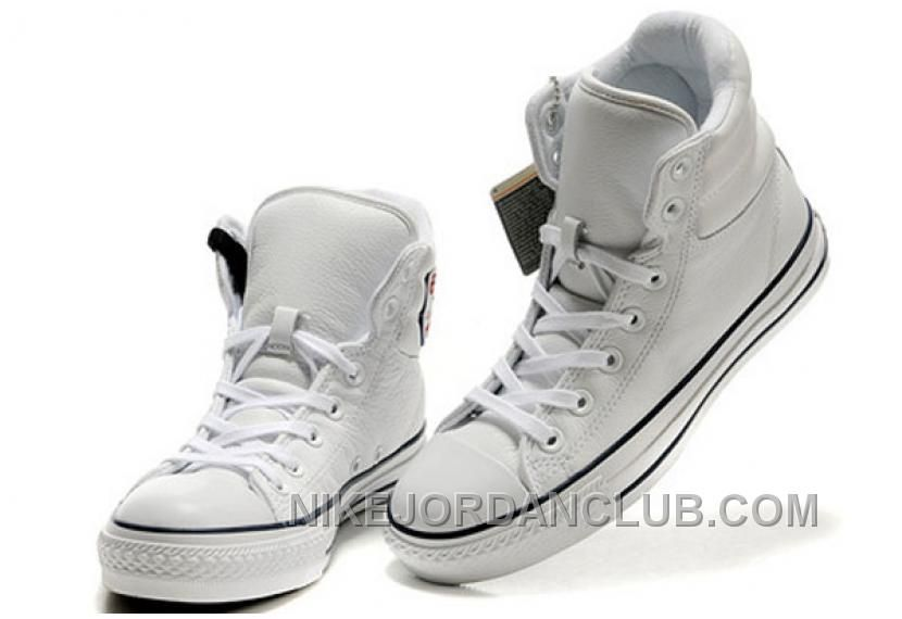 9b2127571ddd 2013 White Embroidery Converse Padded Collar Chuck Taylor All Star High  Tops Leather Winter Boots   Converse comics shoes and converse platform  shoes outlet