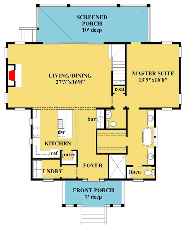 Plan 15230nc Country Cottage With Upstairs Bunk Room Cottage House Plans Country Cottage House Plans House Plans
