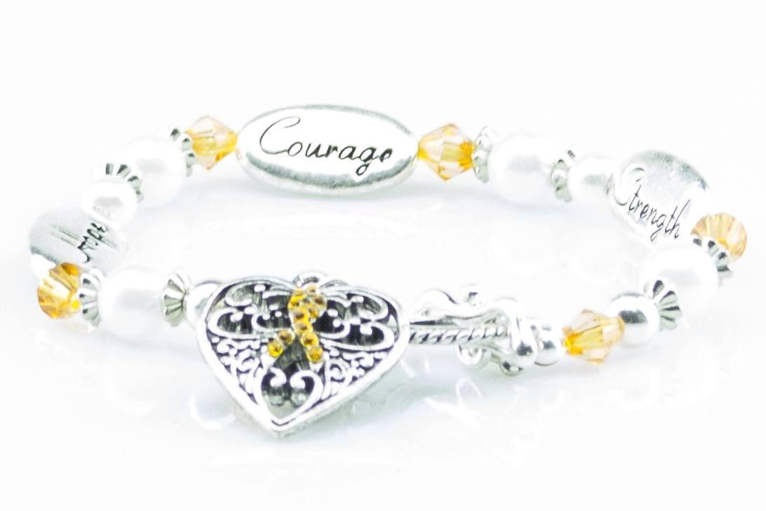 Hope Strength Courage Ms Awareness Bracelet