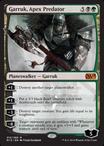 Garruk-Apex-Predator-x1-Magic-the-Gathering-1x-Magic-2015-mtg-planeswalker