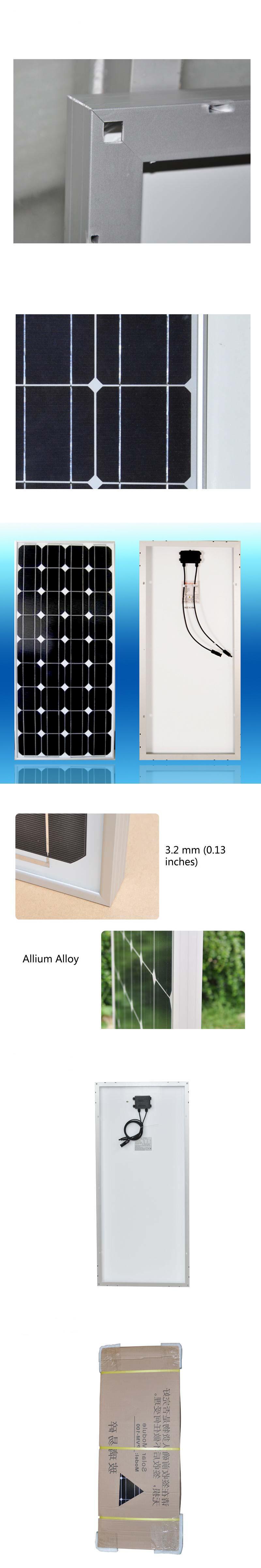 portable solar panel module 100w camping car 12v solar battery