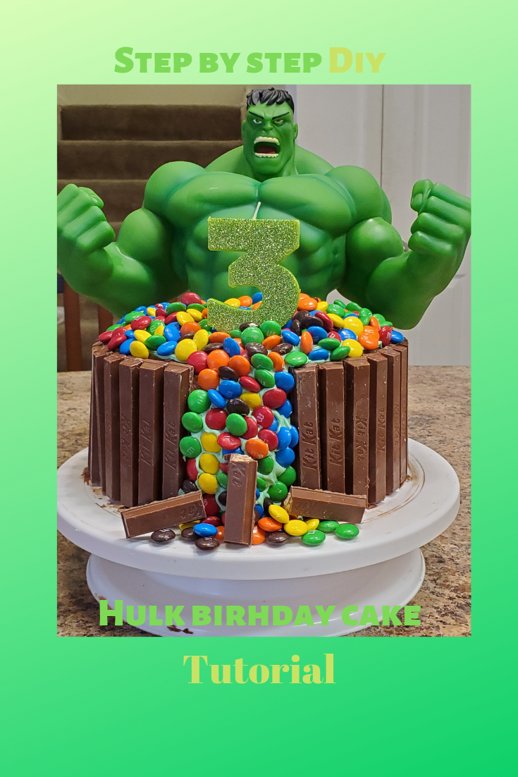 Astonishing The Incredible Diy With Images Birthday Cake Tutorial Hulk Funny Birthday Cards Online Chimdamsfinfo