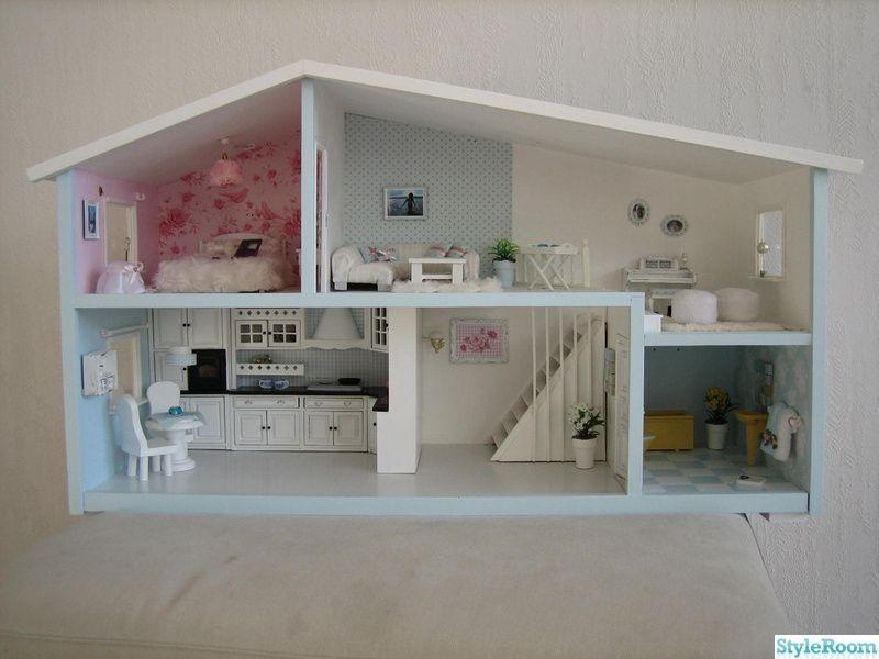 Docksk p dollhouse tilda handmade modernes puppenhaus puppen und barbie haus - Barbie kinderzimmer ...