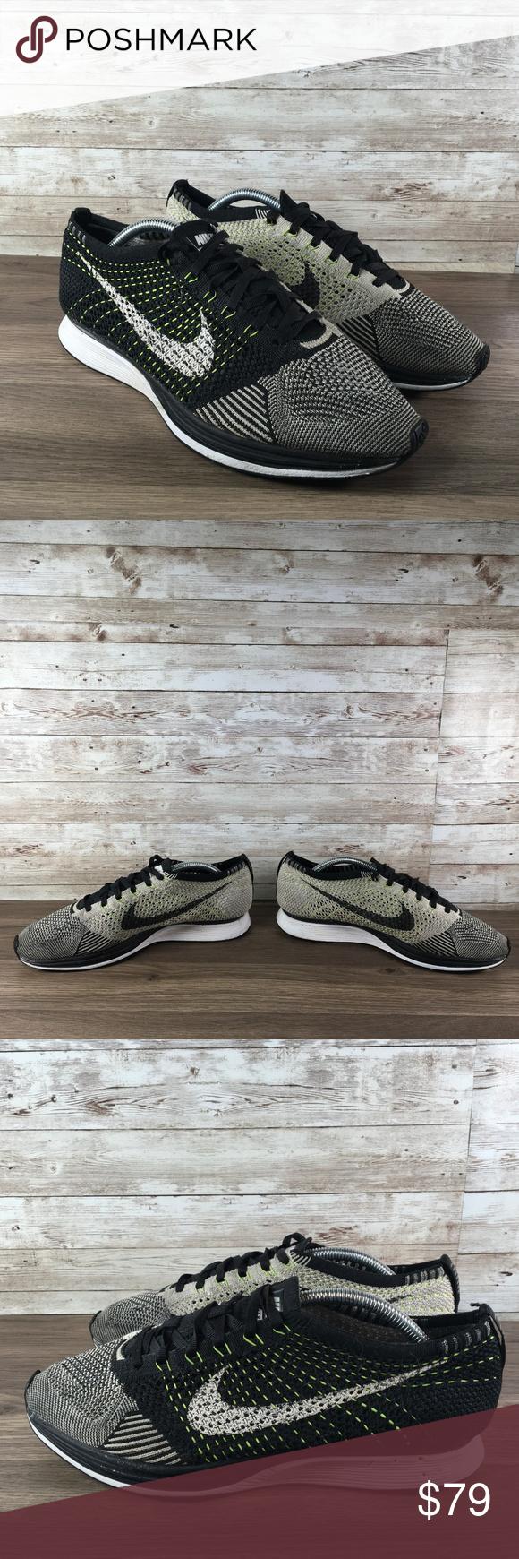 Nike Flyknit Racer Neon Knit Mens 10