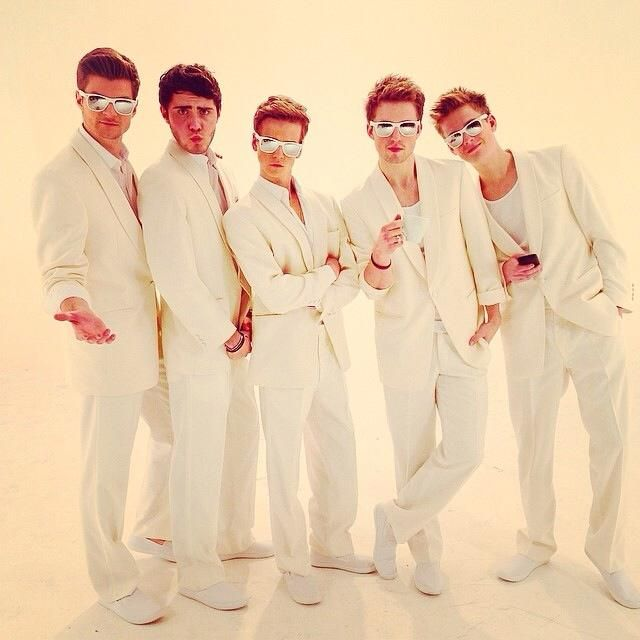 The YouTube Boyband!!! (Left to Right) Jim Chapman, Aflie Deyes, Joseph Sugg, Marcus Butler, Caspar Lee!