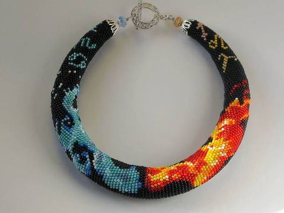 Bead crochet rope - many patterns