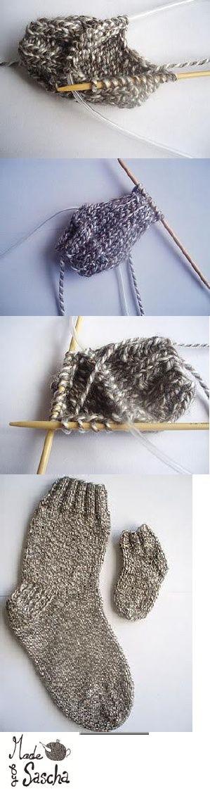 Knitting On Circular Needles For Beginners : Tutorial knitting socks on circular needles