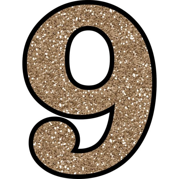 Free Glitter Numbers 0 9 To Download and Print liked on ...