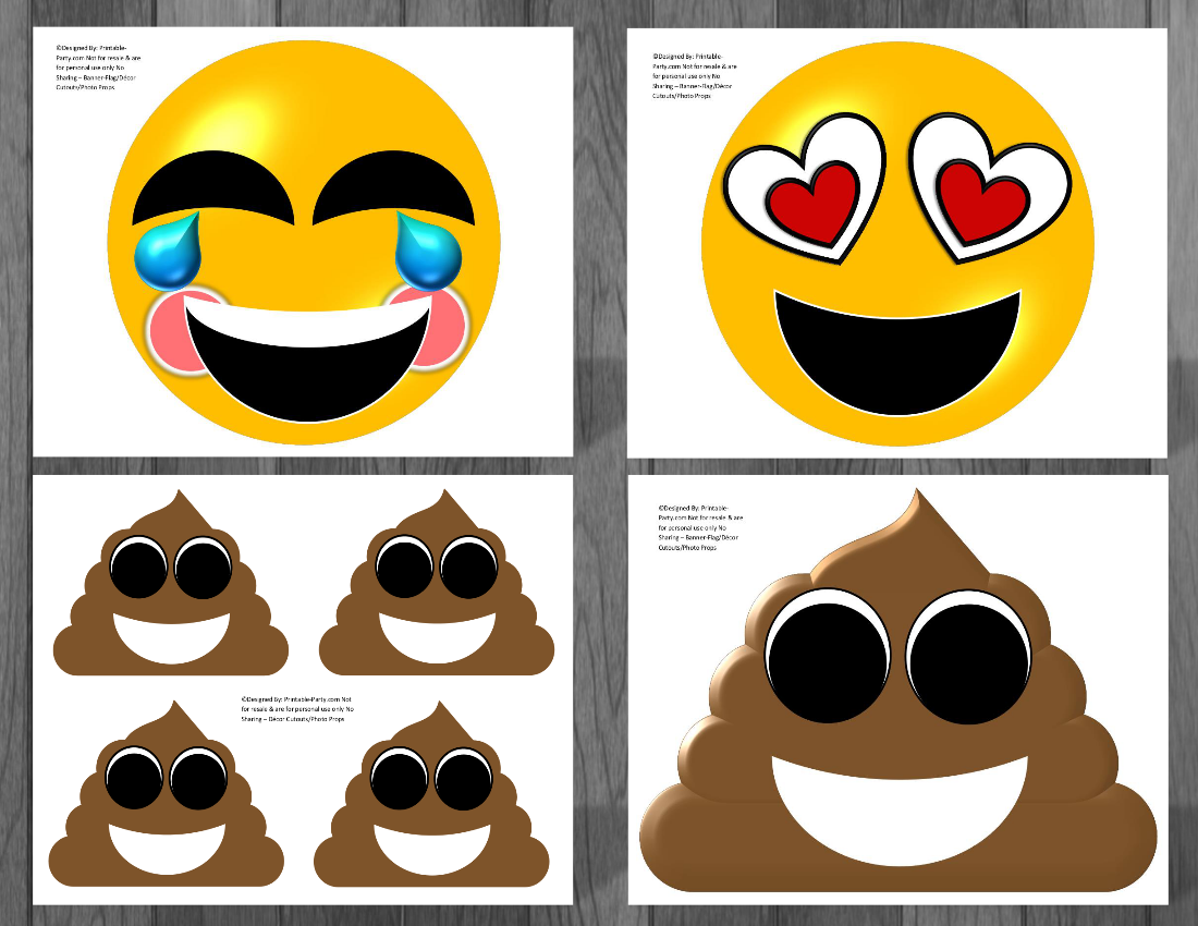 Emoji Printable Birthday Supplies That You Can Use To