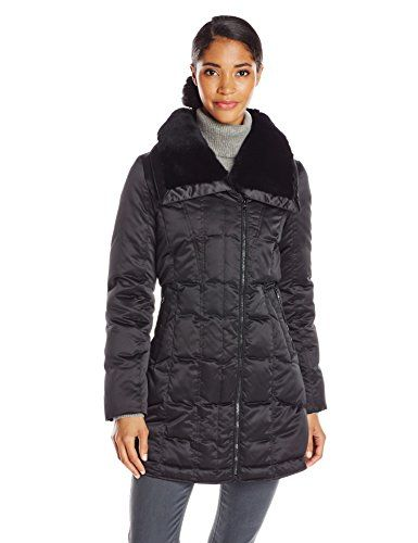 38eb0711449 Larry Levine Women s Plus-Size Down Jacket with Removable Faux Fur Trim Hood      Hurry! Check out this great product   Plus size coa…