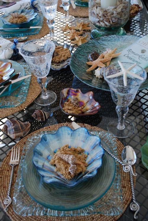 Seashell table setting