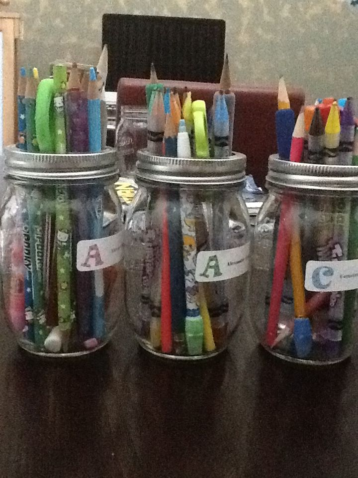 Pens and pencil jars
