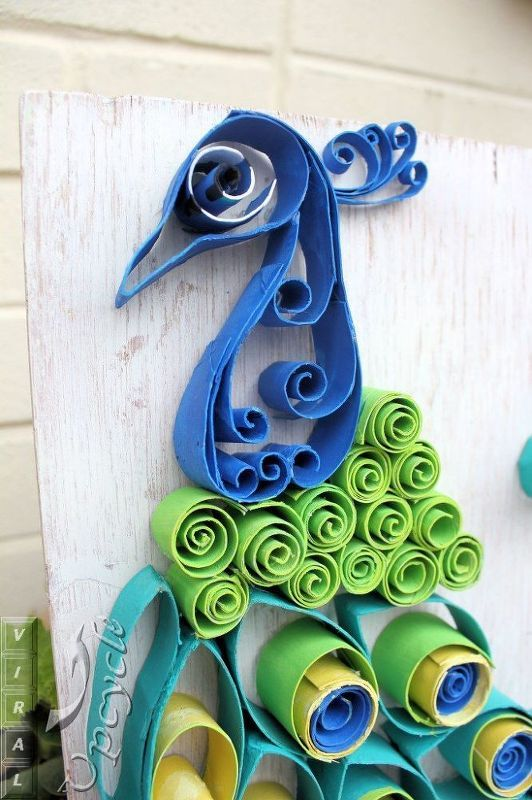 Don T Throw Out Your Old Toilet Paper Rolls Until You Try These Ideas Paper Towel Roll Art Peacock Crafts Paper Towel Rolls