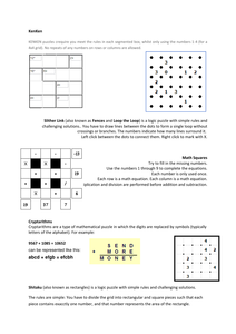 Puzzle instructions pdf | Maths: Number & Algebra | Maths