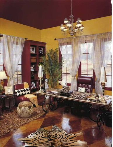 African Themed Office...inspiration For Our Bedroom @James Ace