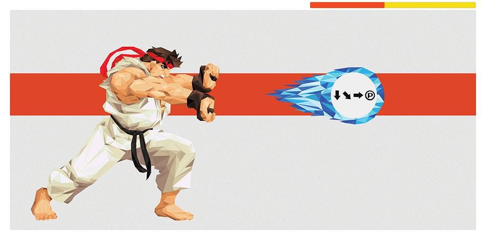 Hadouken Ryu By Andy Duke Hero Complex Gallery Fine Art