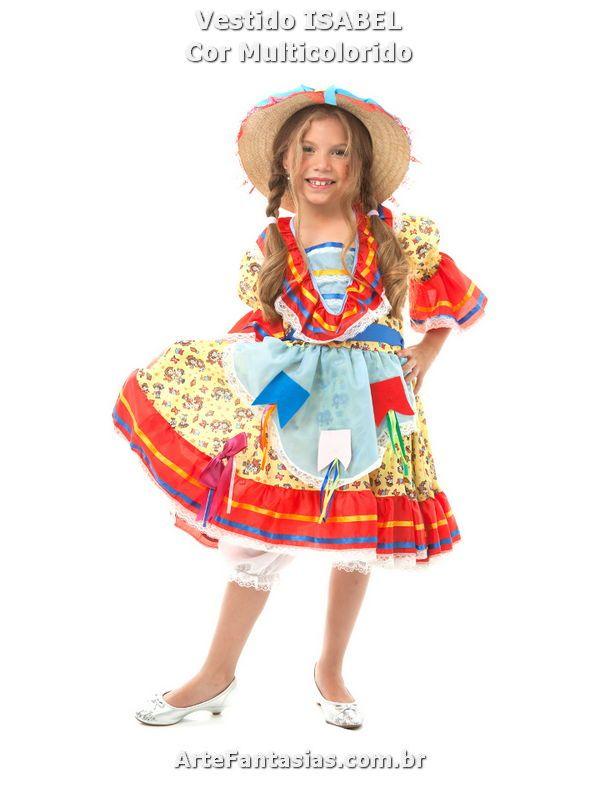 d7a0f26a5dcba Vestidos de Festa Junina ° Arte FANTASIAS - Roupa Junina