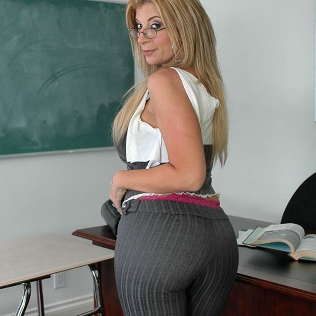 Blonde milf glasses