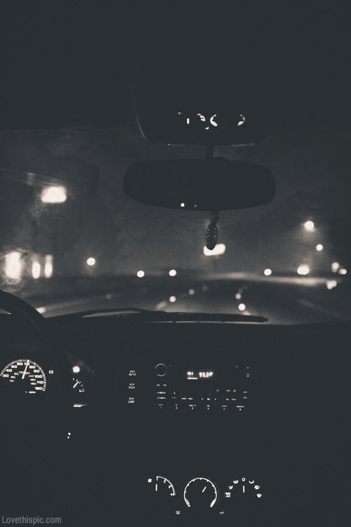 Night Driving Photography Black And White Cars Dark Night Lights