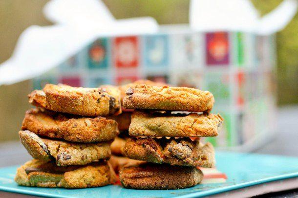 Cookies med nødder og chokolade (sukker- og glutenfri)