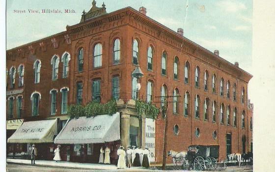 Street View in Hillsdale Michigan 1910s MI | eBay ...