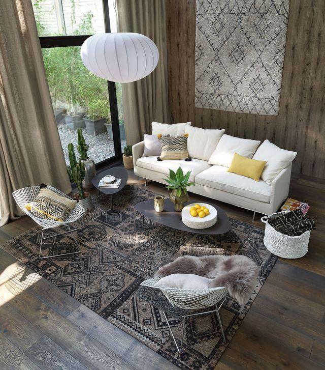 salon cosy id es d co pour un salon chaleureux et cocooning appartement home decor. Black Bedroom Furniture Sets. Home Design Ideas