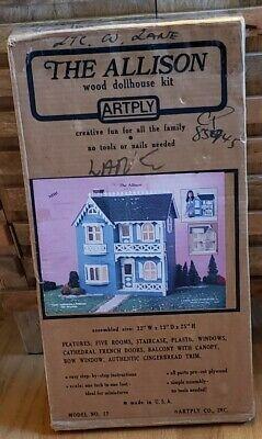 Vintage Artply Wooden Victorian Dollhouse Kit The Allison Model 77 | eBay