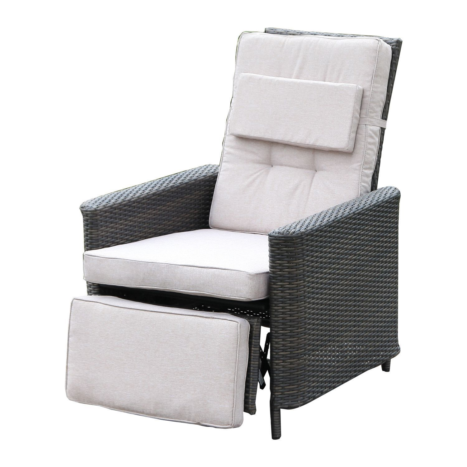 Awesome Wicker Rattan Outdoor Reclining Chair Products Patio Creativecarmelina Interior Chair Design Creativecarmelinacom