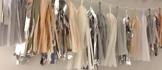 EveryLane 'Not Necessarily Nude' Tissue Tassel Garland... would love this to spice up my hypothetical office