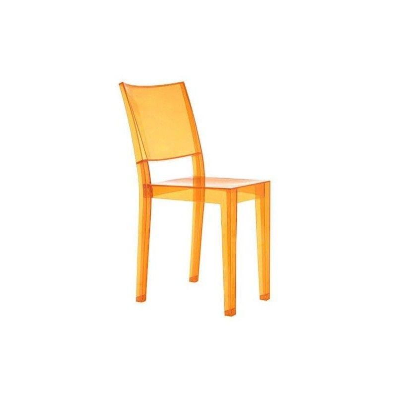 Sedia La Marie Kartell trasparente arancio chiaro