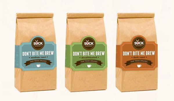 Coffee Packaging Designs don't bite me coffee packagingnaomi francois, via behance