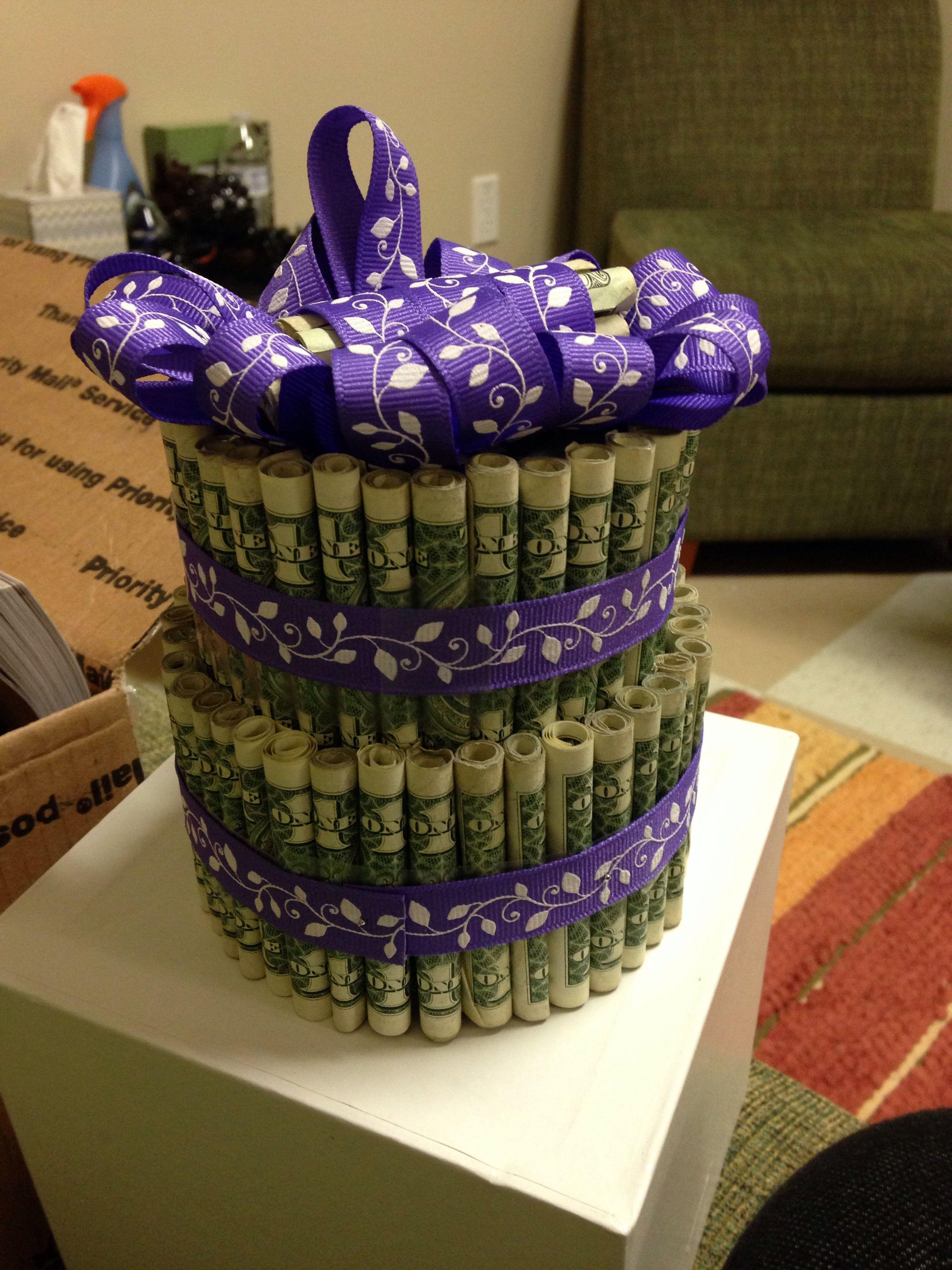 My money cake from my mom. ) crafts diy birthday
