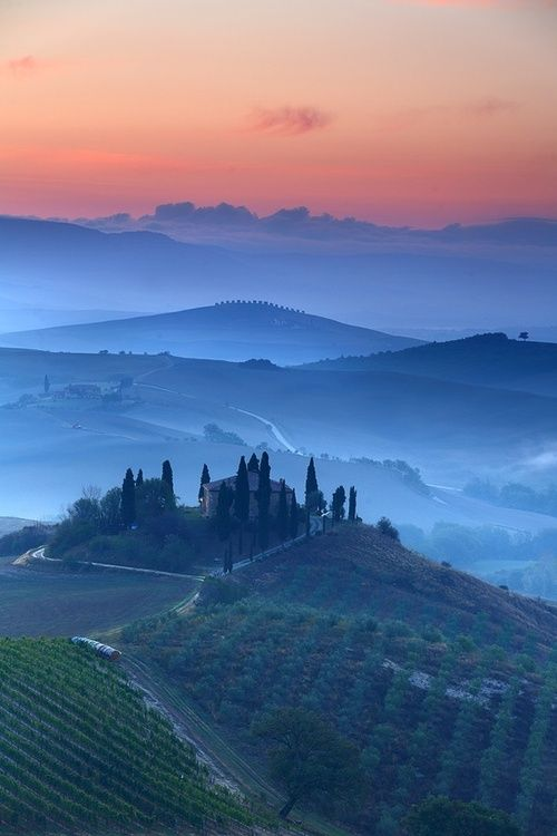 Val D'Orcia , province of Siena , Tuscany