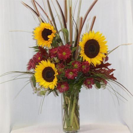 Cattails Sunflowers Boesen The Florist Flower Arrangements