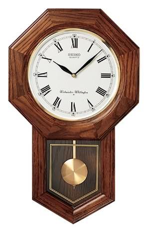 Seiko Qxh102bc Schoolhouse Wall Clock Pendulum Wall Clock Clock Pendulum Clock