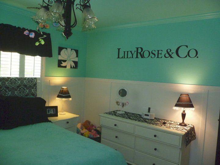 Tiffany & Co Inspired Bedroom | Tiffany Blue Girl\'s Bedrooms ...