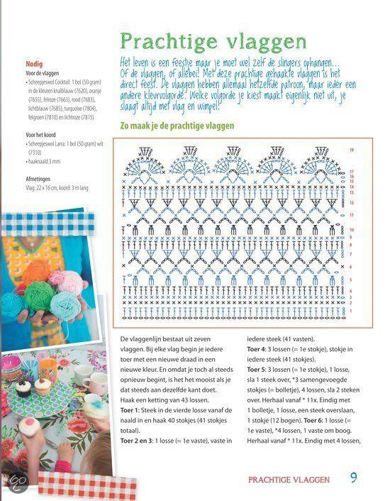Patroon Vlaggetjes Haken كروشيه Pinterest Crochet Crochet