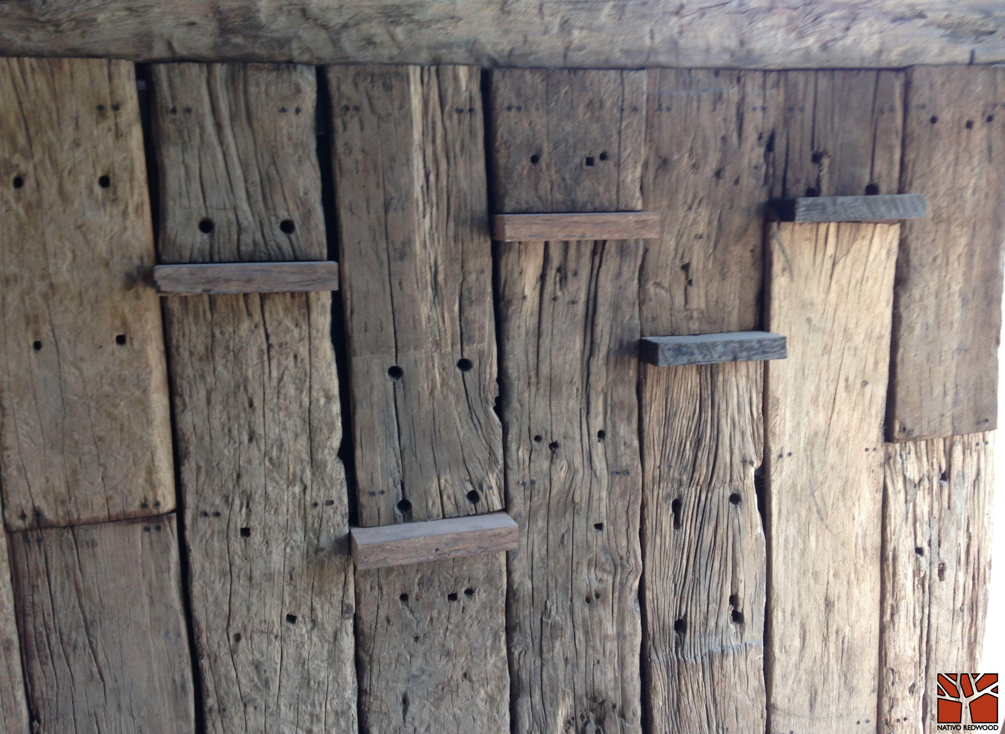 Nativo redwood revestimiento de tablones de durmientes de roble r stico arenados de 25 mm de - Tablones de roble ...