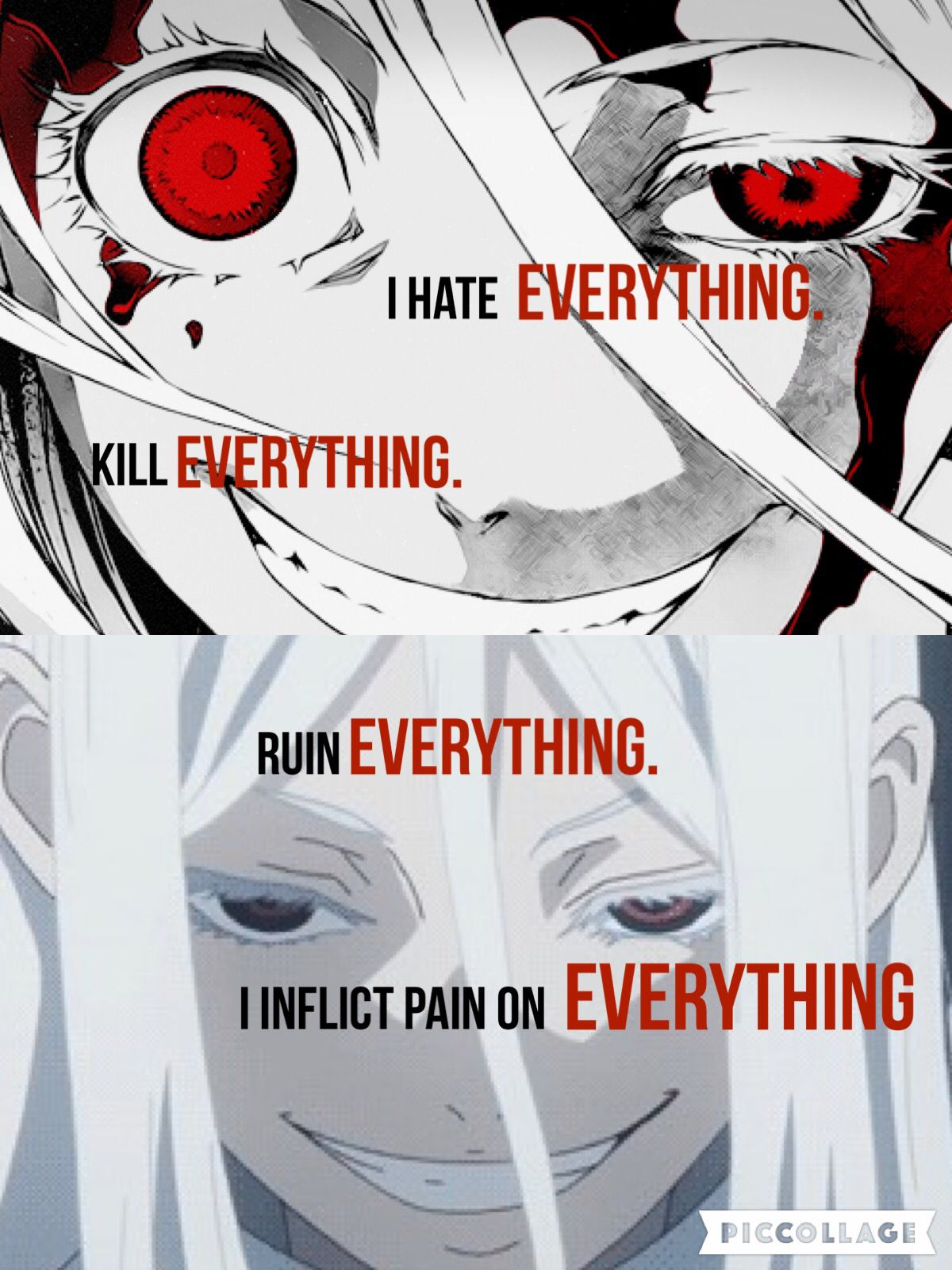 shiro deadman wonderland youre almost just like me its just me