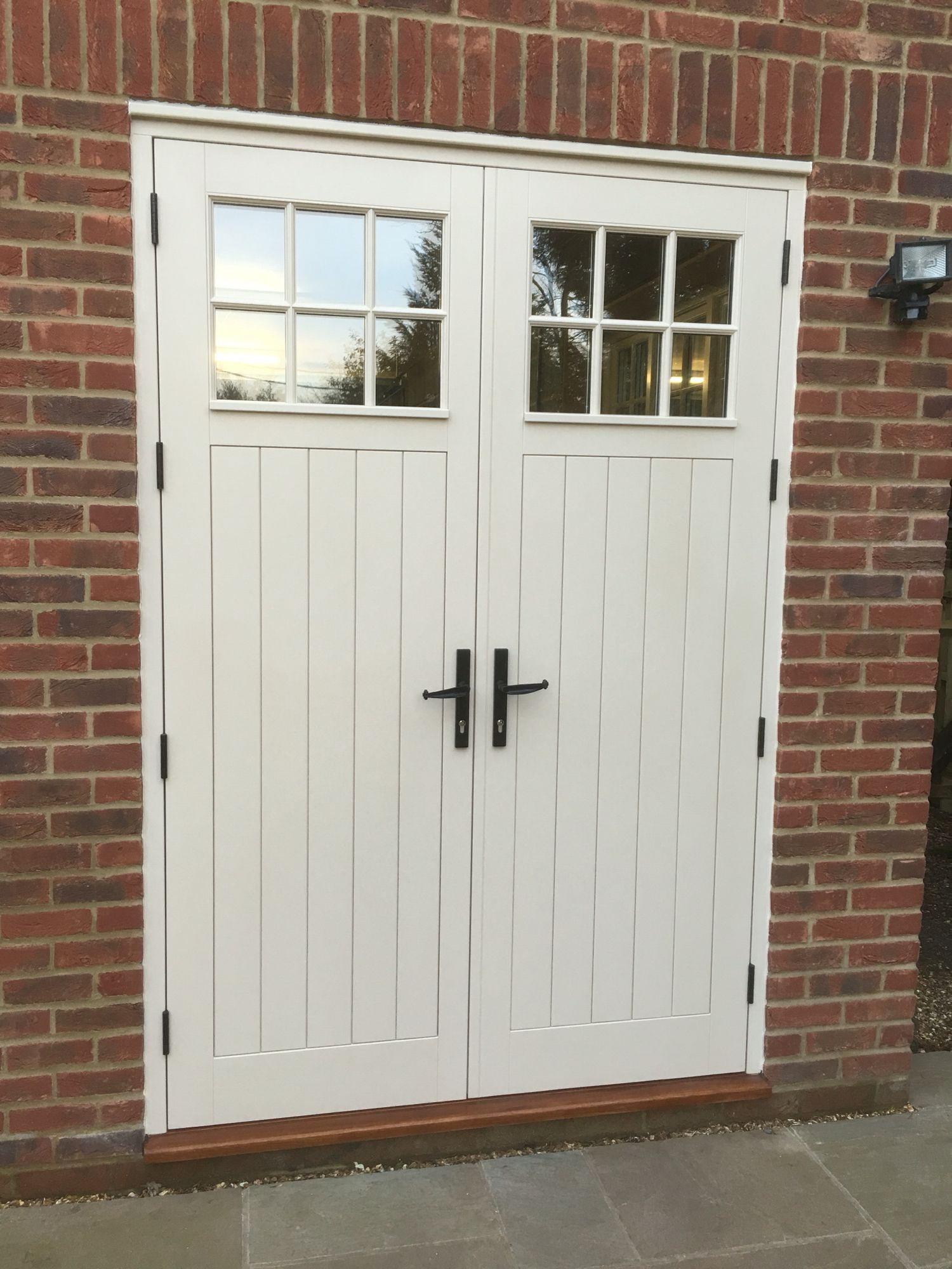 8ft Tall Double Doors For Garage Rear Exit Double Doors Exterior