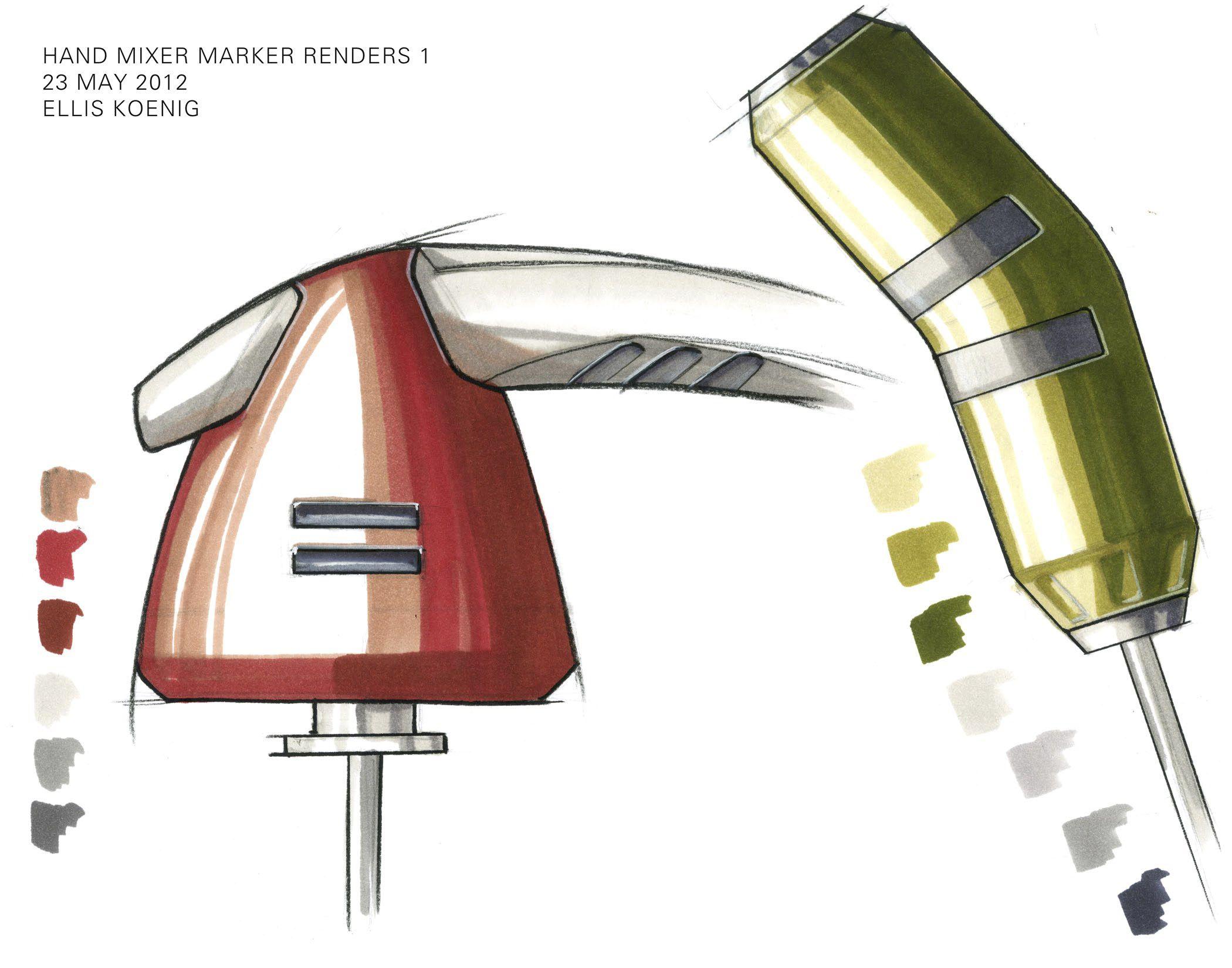 hand mixer marker renderings by ellis koenig t cnicas repres gr fica pinterest hand mixer. Black Bedroom Furniture Sets. Home Design Ideas