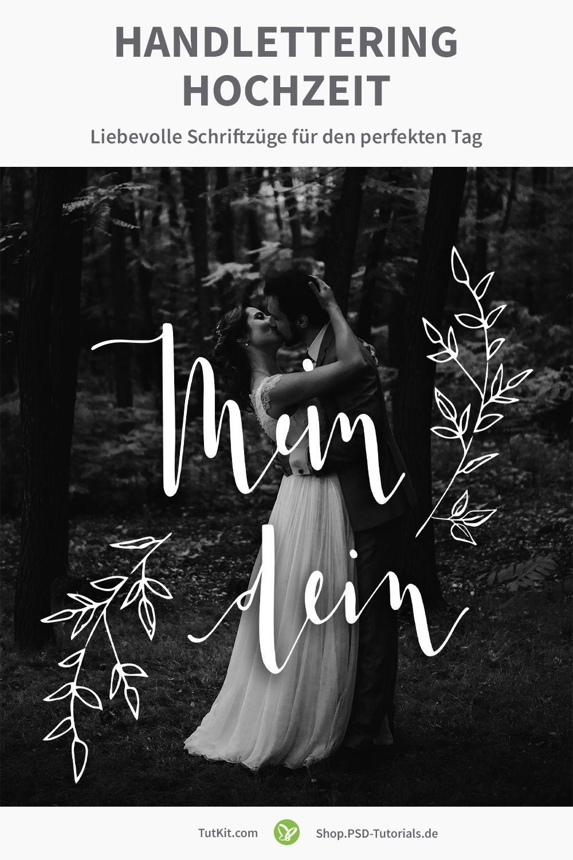 Handlettering Hochzeit: Liebevolle Schriftzüge für den perfekten Tag ich wir du Wir uns,  liegt in der Luft unsere Zeit, Wir & Du & Ich Hochzeit, gemeinsame Zeit, Du bist toll, Mein dein,  und zur