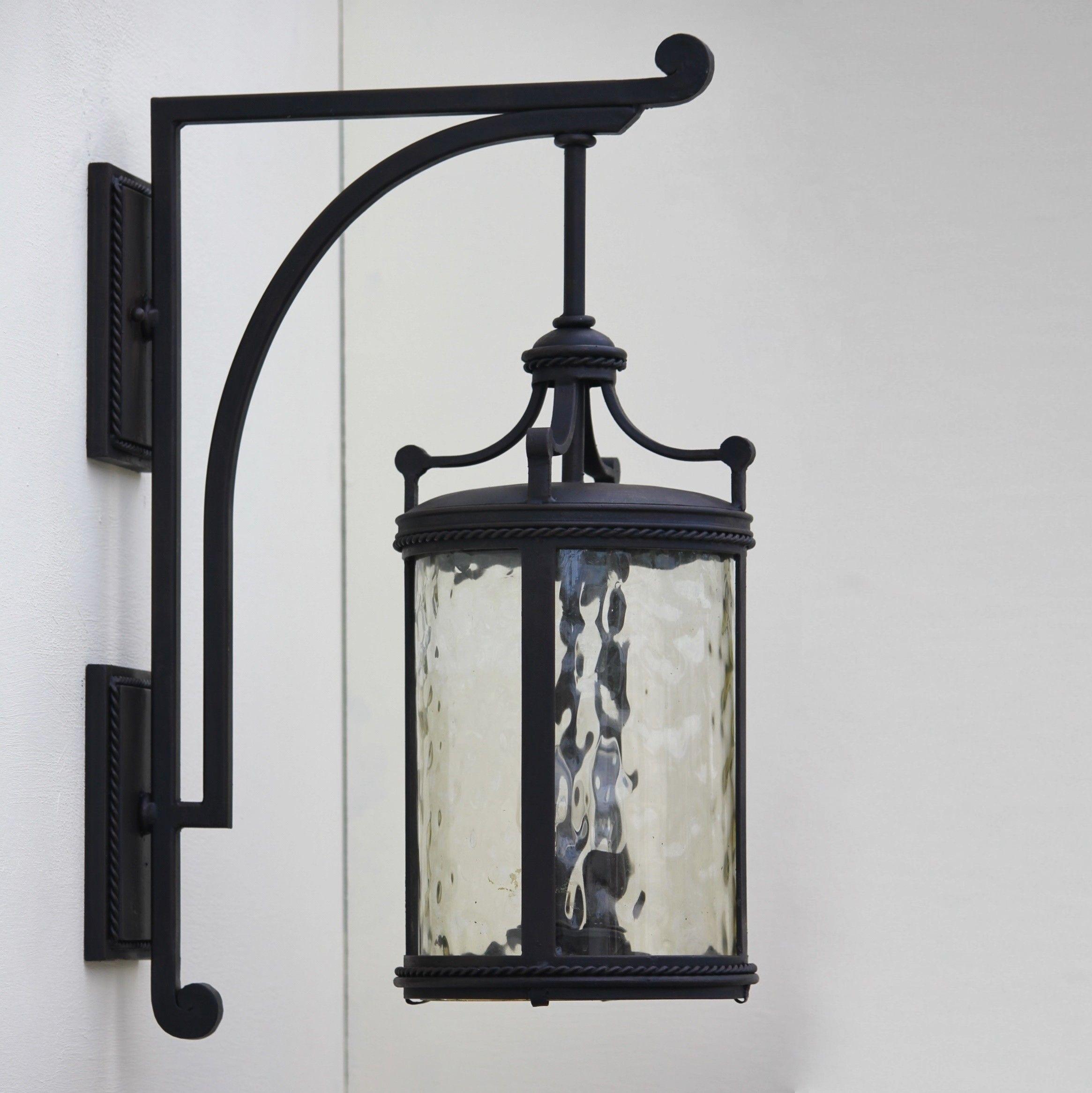 wrought iron outdoor light fixtures