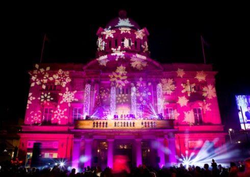 Christmas Lights City Hall Hull England Christmas Shopping Christmas Lights Christmas